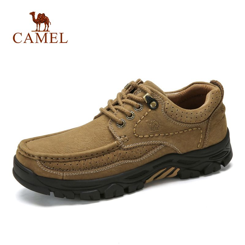 CAMEL Genuine Leather Men Business Shoes Cowhide Outdoor Retro Male Footwear Thick bottom Non-slip Man Casual Shoes