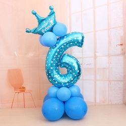 1 комплект воздушные шары в форме цифр номер Фольга шары День рождения, свадьба, Рождество фестиваль вечерние Декор поставки воздушный шар