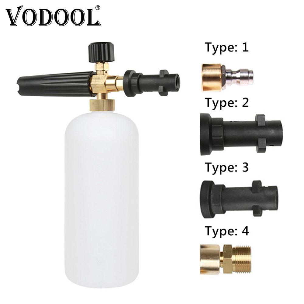 VODOOL haute pression lave-Auto mousse pistolet savon mousse générateur pulvérisateur d'eau pistolet neige mousse Lance Auto voiture laveuse pour Karcher K2-K7