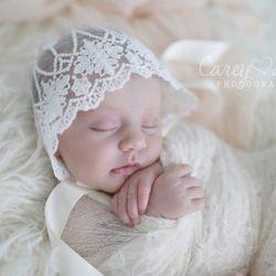 Bayi baru lahir Bayi renda topi Balita Bayi indah Renda Bunga Topi Gadis Boy Anak Fotografi Props Topi Beanie Bunga Pembaptisan