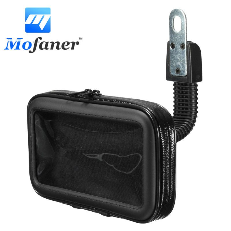 Mofaner Waterproof Motorcycle Phone Holder Bag Bike Rear View Mirror Mount Case Phone Holder Bag Stand GPS Bracket For Phone GPS