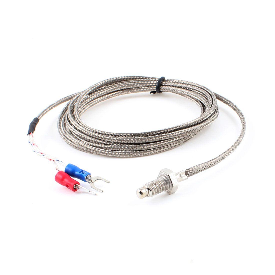 Uxcell 6Mm Thread K Type Thermocouple Temperature Measurement Sensor 2 Meters . | 400c | 600c | 800c