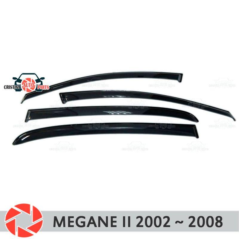 Fenster deflektor für Renault Megane 2 2002-2008 regen deflektor schmutz schutz auto styling dekoration zubehör molding