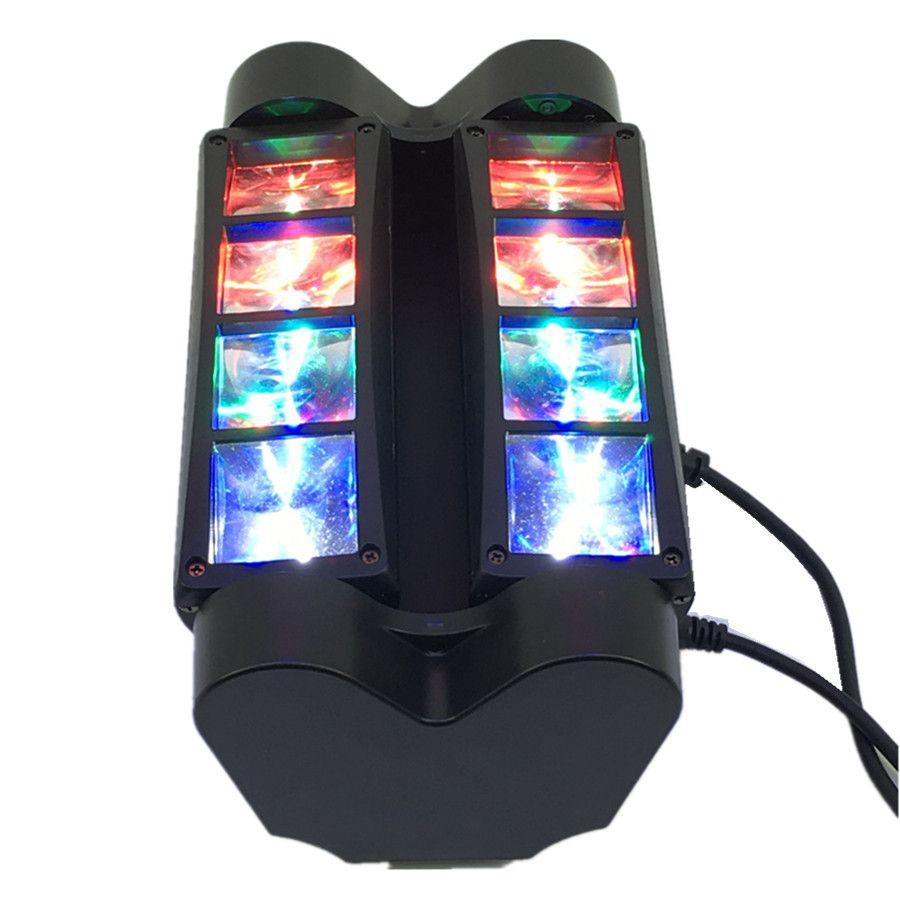 High quality 8pcs Mini Led Spider Light DMX512 LED Moving Head Light led Beam club dj disco lighting KTV lamps RGBW Beam
