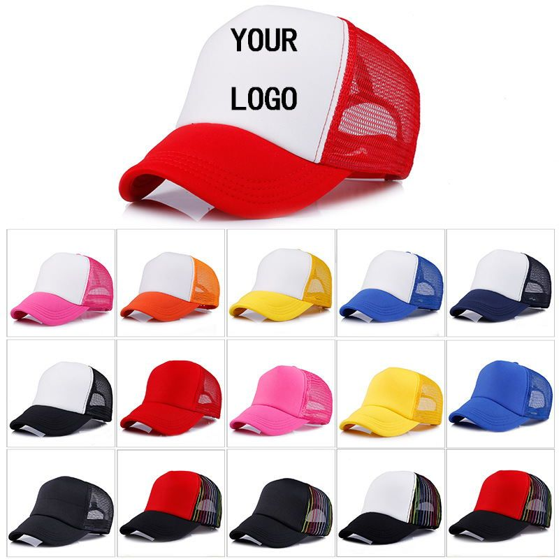 Factory Price! Free Custom LOGO Design Cheap 100% Polyester Men Women Baseball Cap Blank Mesh Adjustable Hat Adult Children Kids