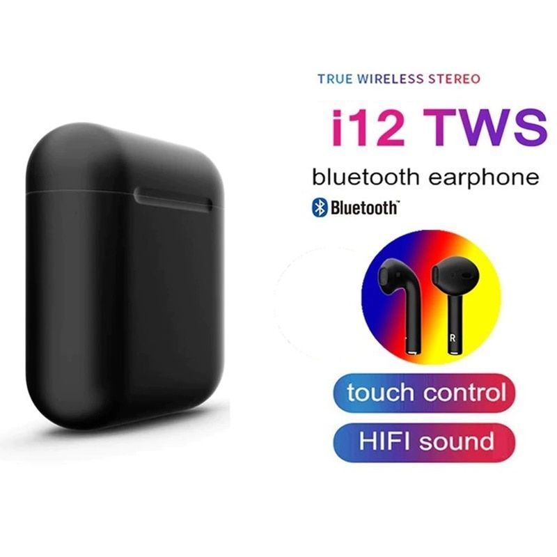 2019 I12 Tws Bluetooth Earphones Earbuds Wireless Touch Control Headsets Mini Sport Headphones For Xiaomi Para Elari Nanopods