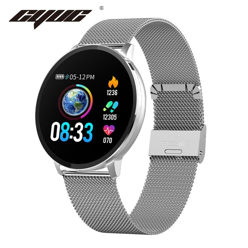 CYUC NY03 Sports mart montre moniteur de fréquence cardiaque IP68 étanche Smartwatch Fitness Tracker avec application bande H pour android et IOS