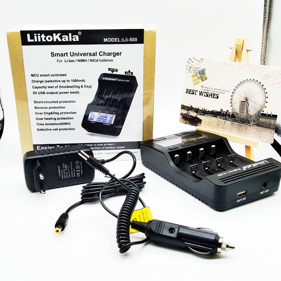 Liitokala lii-500 LCD 3.7V/1.2V AA/AAA 18650/26650/16340/14500/10440 Battery Charger with screen /Patent lii500