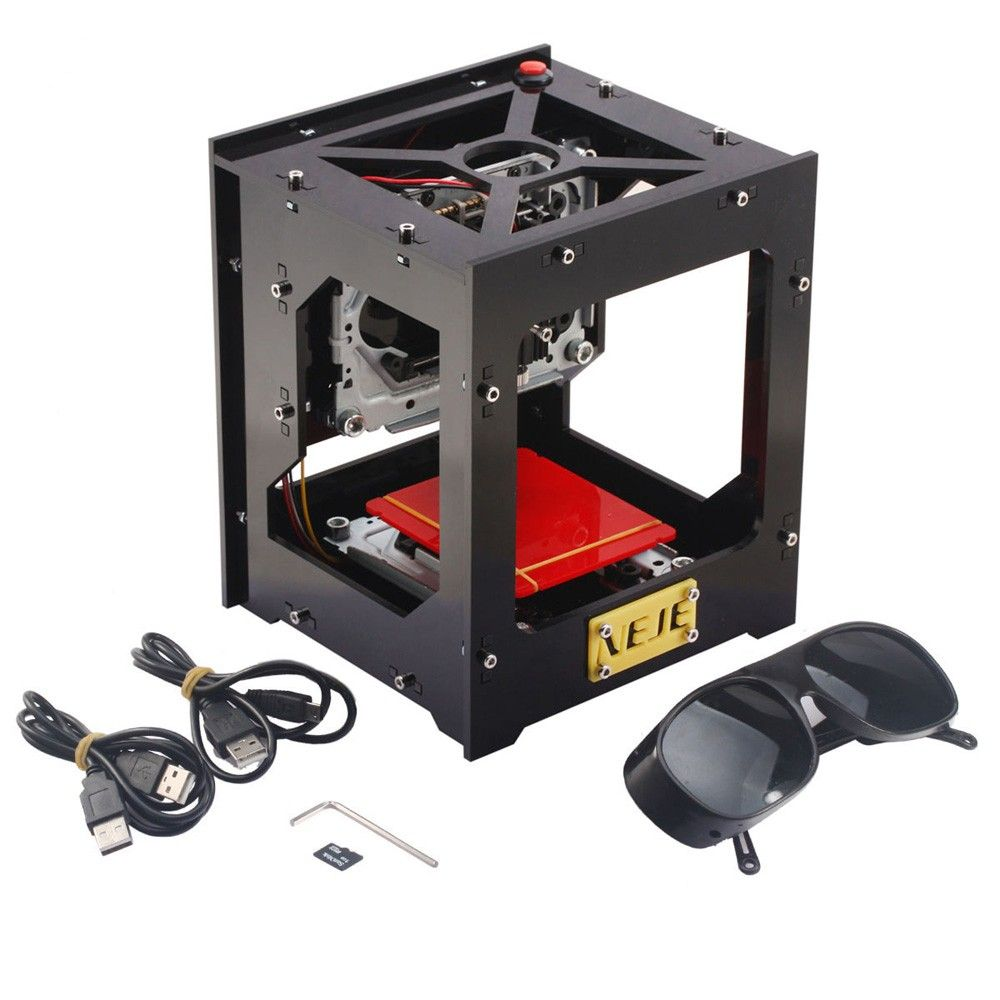 1000mW High Speed Mini Laser Cutter USB Laser Engraver CNC Router Automatic DIY Engraving Machine Off-line Operation + Glasses