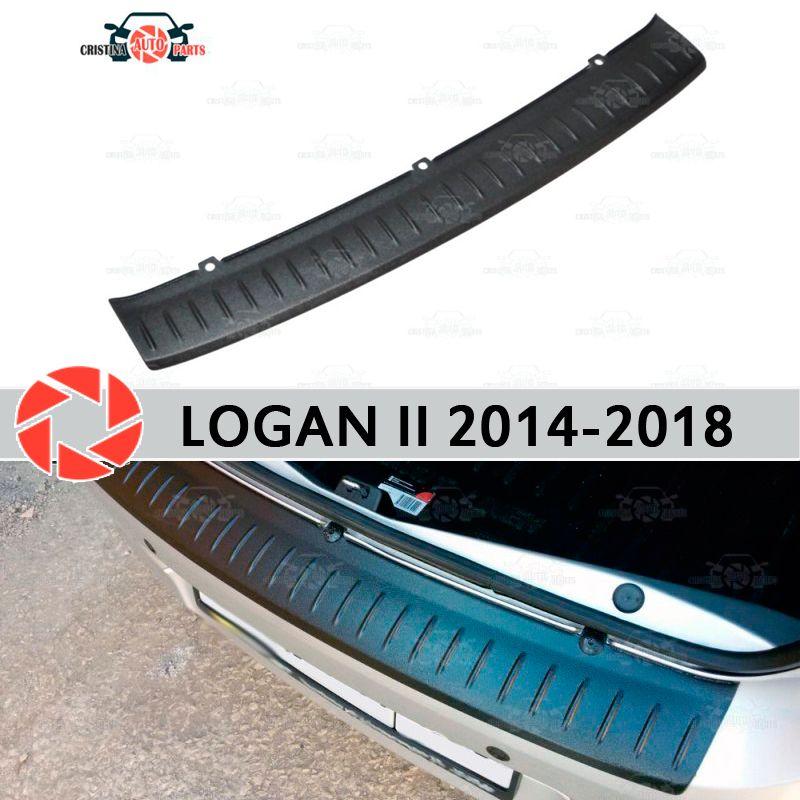 Für Renault Logan II 2014-2018 schutz schutz platte auf heckschürze sill auto styling dekoration scuff panel zubehör molding