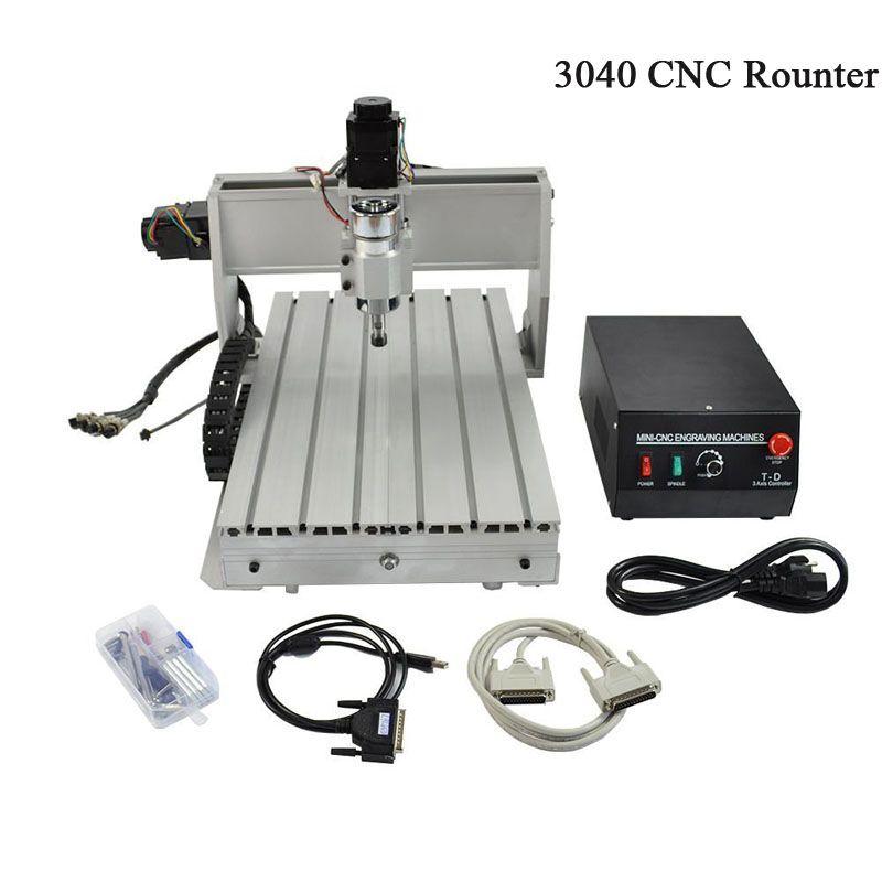 CNC 3040 gravur maschine 3040 T-D Drei-achse themen schraube mini stecher für holz und andere weiche materialien CNC router
