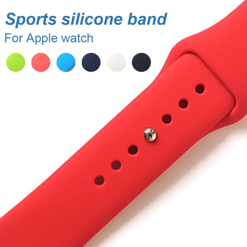 Sport silikon Band Apple uhr 3 42mm 38mm Ersetzen Armband für apple Uhr Serie 1/2 bands
