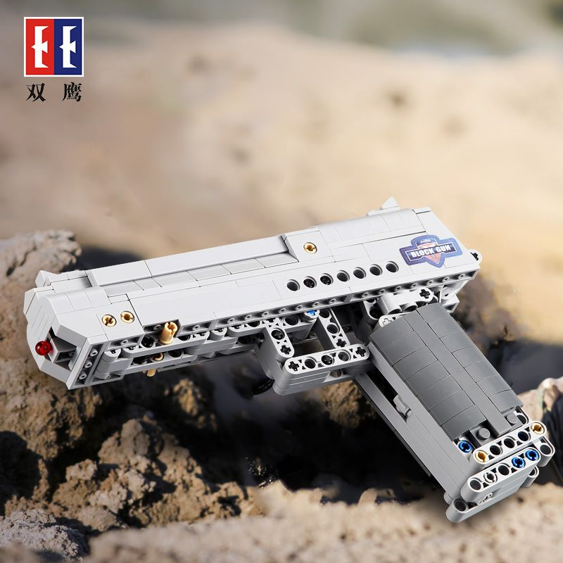 Magnum Desert Eagle PUBG weapon Assembly pistol Technic Military Model Building Block Bricks compatible Legos toys kids gifts