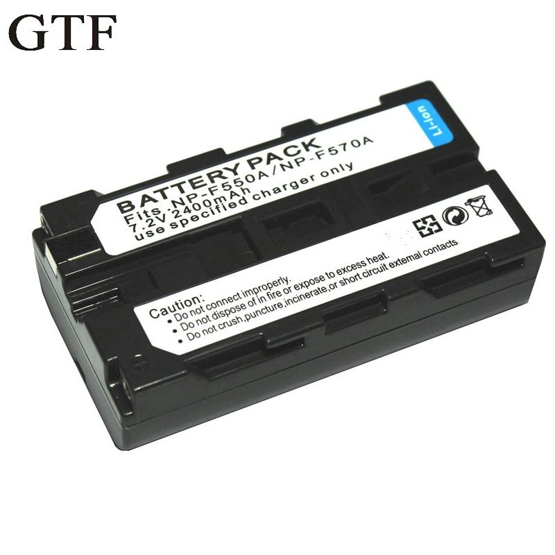 GTF Photo lamp NP - F550 battery NP - F570 battery For Electronic LED lamp battery 2400 battery pack