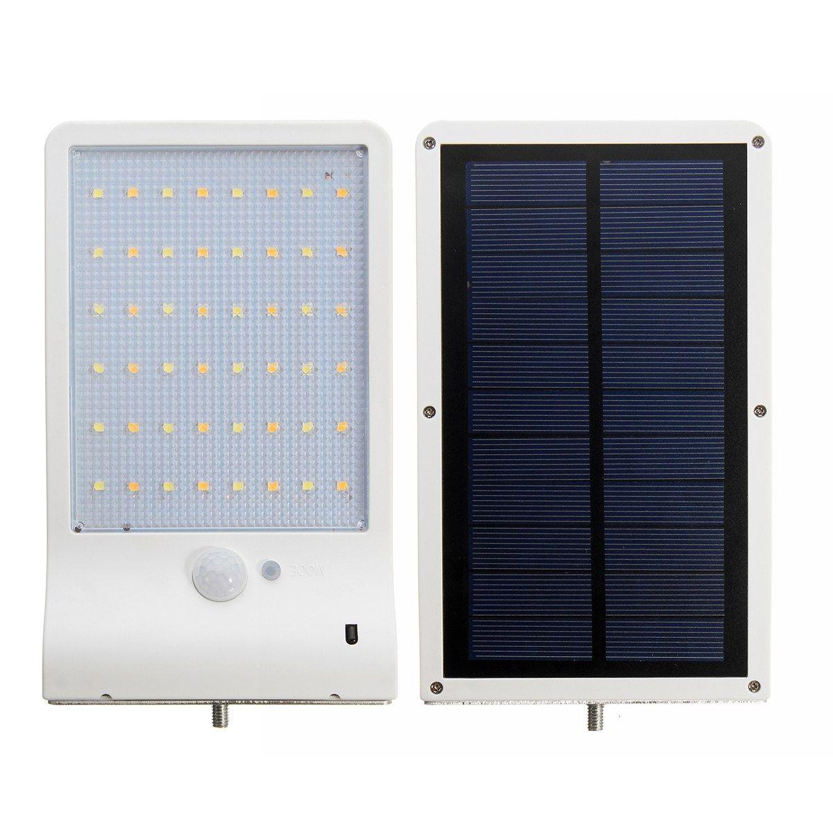 Солнечный Мощность 48 LED движения PIR Солнечный свет Сенсор стеной сад светодиодный фонарь удаленного IP65 с Дистанционное управление