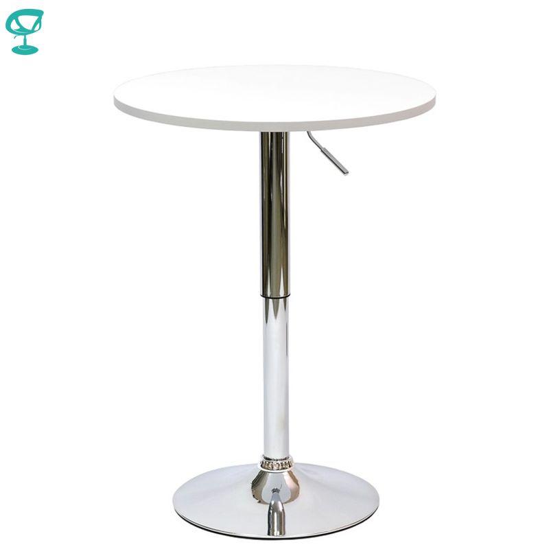 94919 Barneo T-2 MDF hohe Frühstück Innen Tisch Bar Tisch Küche Möbel Esstisch Weiß kostenloser versand in Russland