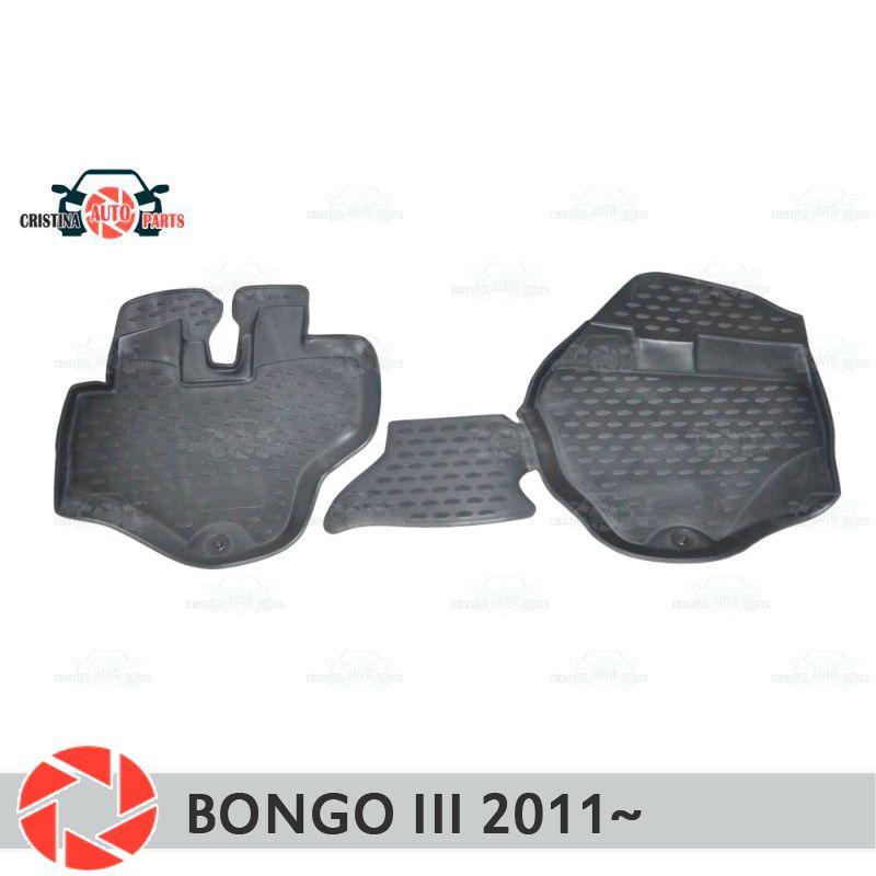 Boden matten für Kia Bongo 3 2011 ~ teppiche non slip polyurethan schmutz schutz innen auto styling zubehör