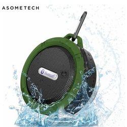 Portable Waterproof Outdoor Wireless Bluetooth Speaker C6 Sucting Computer Mobile Phone Adsorption Mini Soundbar Support TF Card