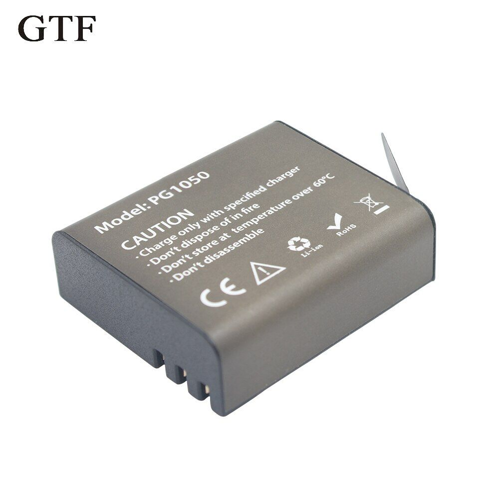 GTF 3,7 V 1050 mAH Batterie Für EKEN Action Kamera H9 H9 H3 H3R H8PRO H8R H8 pro SJ4000 SJCAM SJ5000 M10 SJ5000X Aufladen batterie