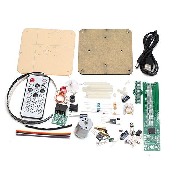 Nueva Llegada 1 Unidades DIY Kit POV Giratoria LED de Soldadura Kit de Entrenamiento Versión Mejorada