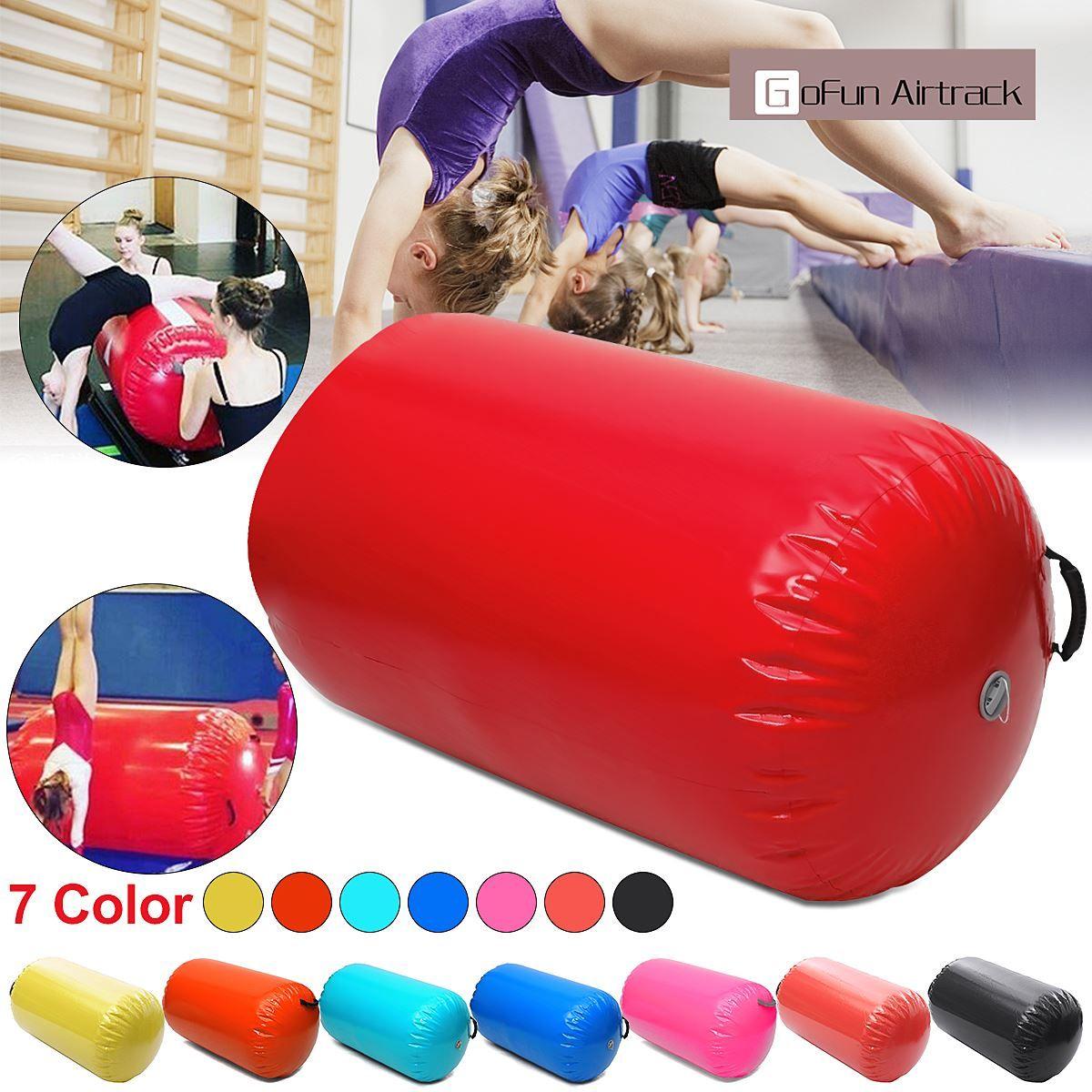 Gofun AirTrack Air Cylinder Tumbling Track Gymnastics Exercise Column Inflatable Gym Inverted Backflip Training Children Safe