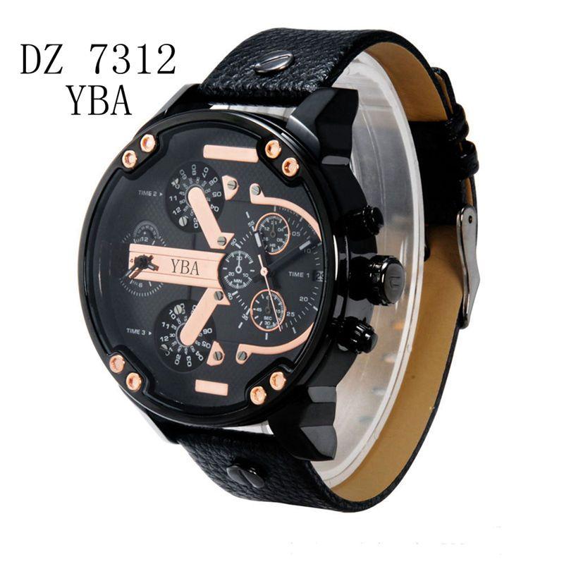 Los Hombres de lujo marca dz Relojes montre Reloj de Cuarzo Correa de acero inoxidable reloj hombre Militar Deportes Hombre Reloj relogio masculino
