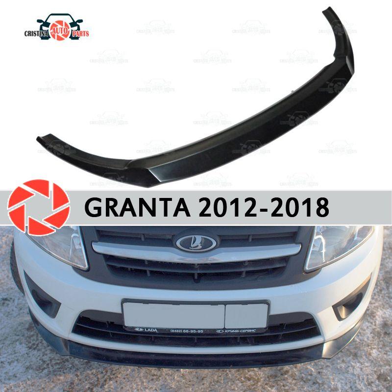 Splitter auf der vorderen stoßstange für Lada Granta 2012-2018 kunststoff ABS dekoration zubehör auto styling tuning platte abdeckung