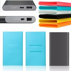 New Silicone Case Rubber Cover For MI PRO Xiaomi USB Type-C 10000mAh Power Bank Charger External Battery Pack Protective Skin