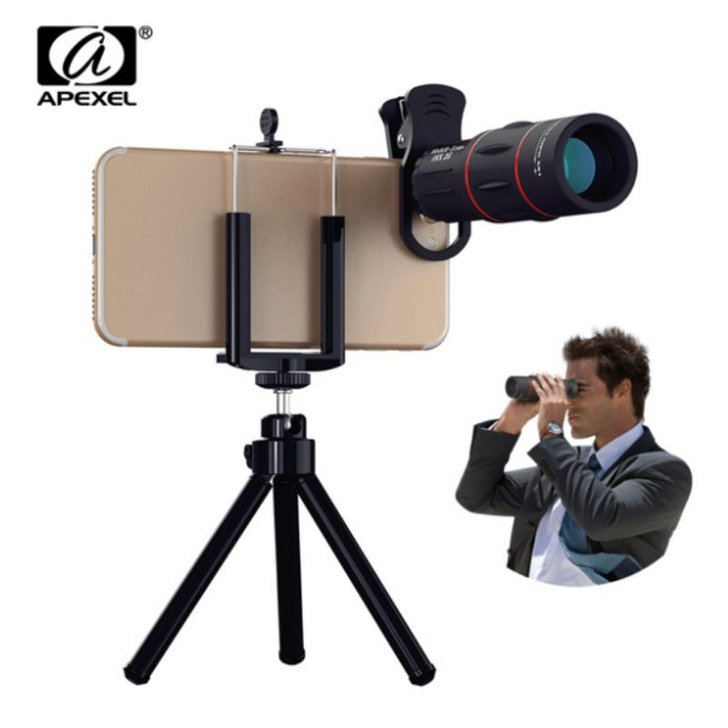 APEXEL Camera Lens universal 18X Telescope Zoom telescope Mobile Phone Lens for iPhone Xiaomi Smartphones APL-18XT