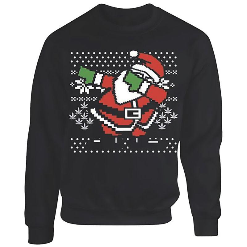 Fashion Mens Sweaters European Style Slim Jacquard Christmas Santa clause O-Neck Long Sleeve Knit Man Casual Clothing