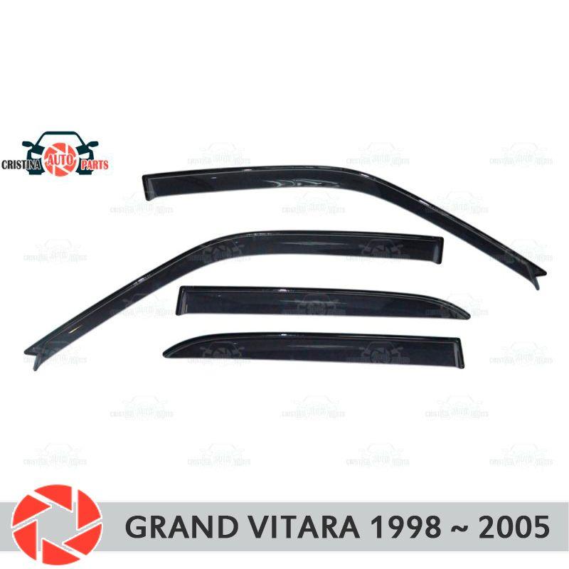 Fenster deflektor für Suzuki Grand Vitara 1998-2005 regen deflektor schmutz schutz auto styling dekoration zubehör molding