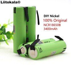 2019 Liitokala new original NCR18650B 3.7V 3400mAh 18650 rechargeable lithium battery for  battery + DIY nickel piece