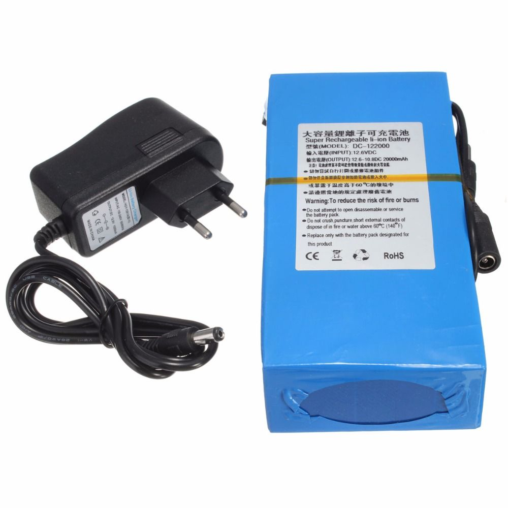 GTF 20000mAh Lithium Ion High Capacity Rechargeable Battery AC Power Charger With 4 kinds of Plugs Promotion Drop Shipping