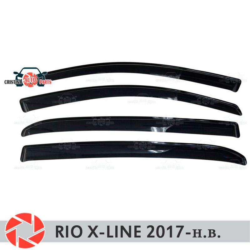 Fenster deflektoren für Kia Rio X-Linie 2017-regen deflektor schmutz schutz auto styling dekoration zubehör molding