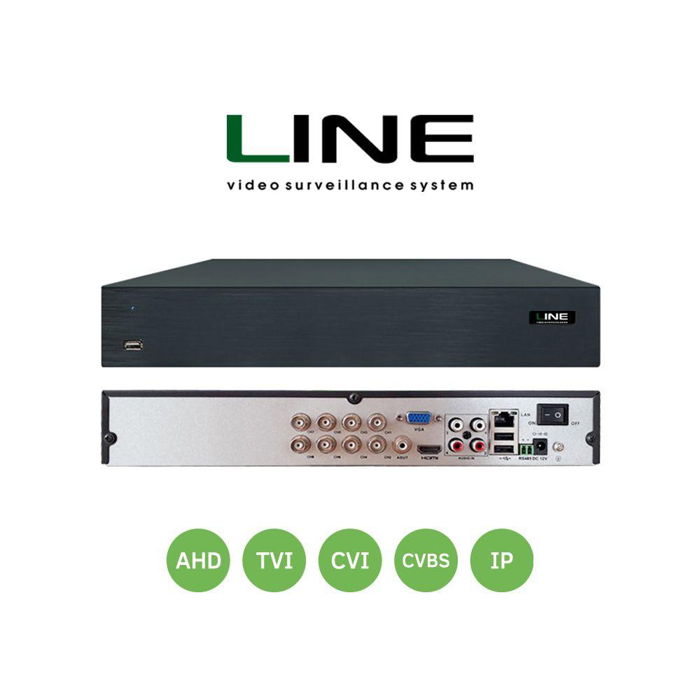 Linie XVR 8 kanäle Netzwerk Video Recorder Ahd Dvr 8Mp Smart Onvif 2 Sata 8ch Nvr Für Video Überwachung System hvr