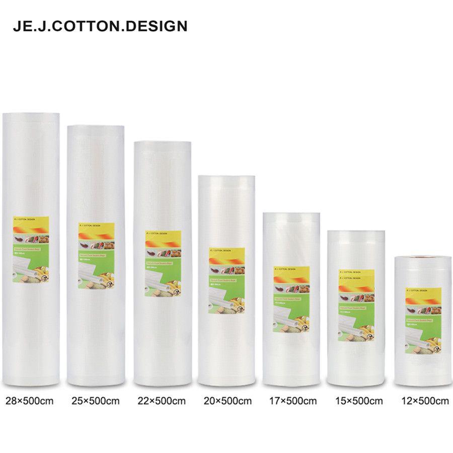 2 rouleau Vide Scellant Machine D'emballage Sacs pour La Nourriture Points Grain Packer Sac 12*500 cm 15*500 cm 17*500 cm 20*500 cm 25*500 cm 28*500 cm