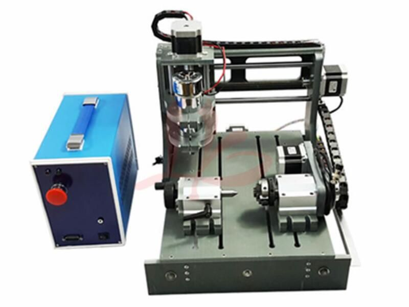DIY CNC 2030 parallel port 4 axis Mini wood milling machine cnc router with DC spindle 300W 3.175mm drill tip