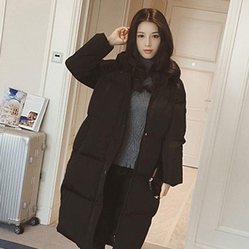 Winter clothes winter women's cotton jacket fashion zipper long coat thick Loose large size jacket