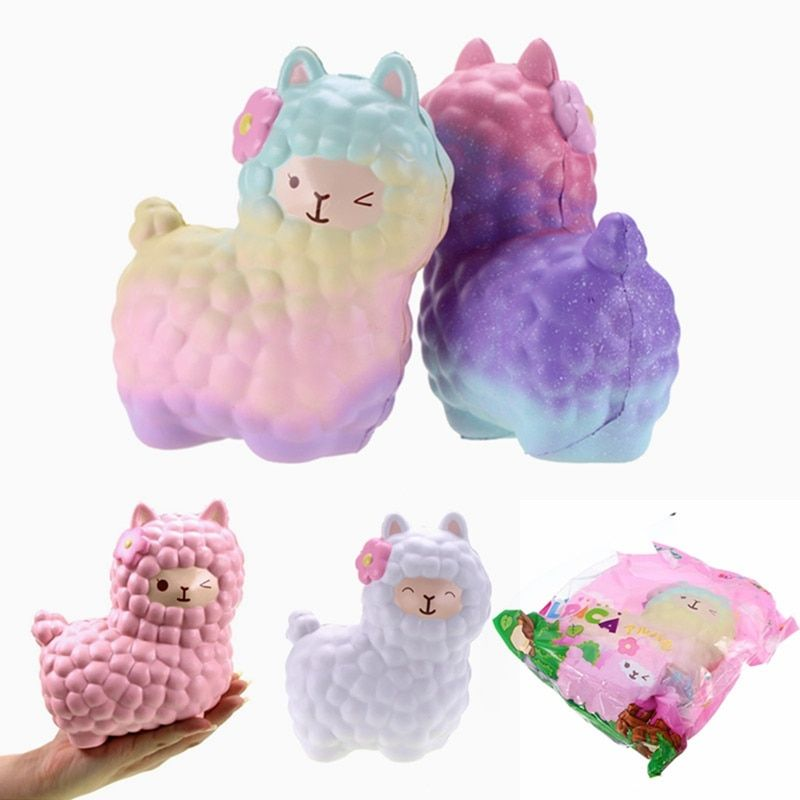 Hot  Vlampo for Squishy Alpaca 17x13x8cm Slow Rising Original Packaging Collection Gift Decor Toy Phone Straps Decompress Toy