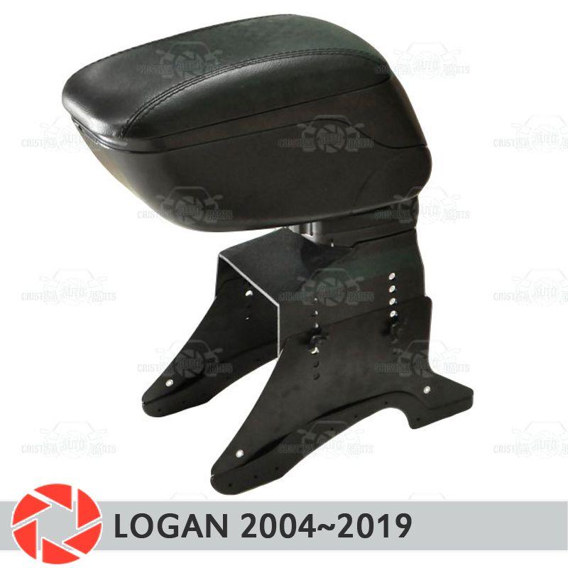 Armlehne für Renault Logan 2004-2019 auto arm rest zentrale konsole leder lagerung box aschenbecher zubehör auto styling
