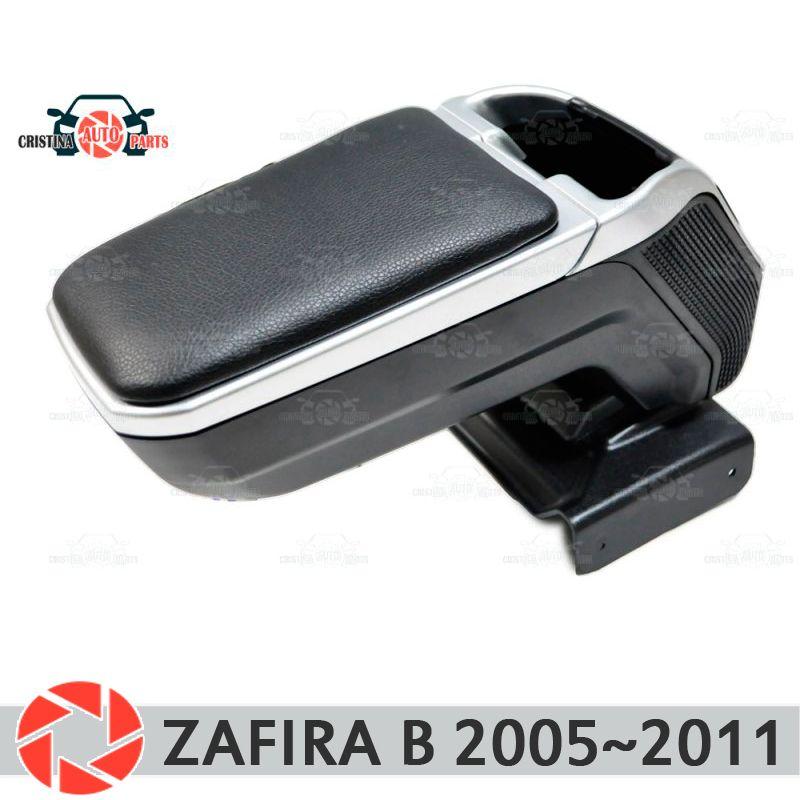 Armlehne für Opel Zafira B 2005 ~ 2011 auto arm rest zentrale konsole leder lagerung box aschenbecher zubehör auto styling m2