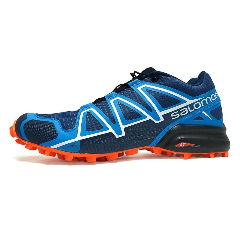 Salomon Men Shoes Speed Cross 4 CS Sneakers Man Blue Cross-country Running Shoes Male Athletic Shoes Sport shoes 40-46