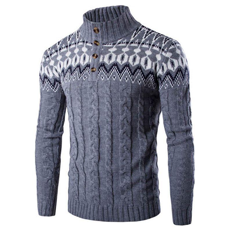 Новый осень-зима модный бренд Для мужчин одежда свитер для повседневной носки джемпер пальто Повседневное эластичный трикотаж мужской вяз...
