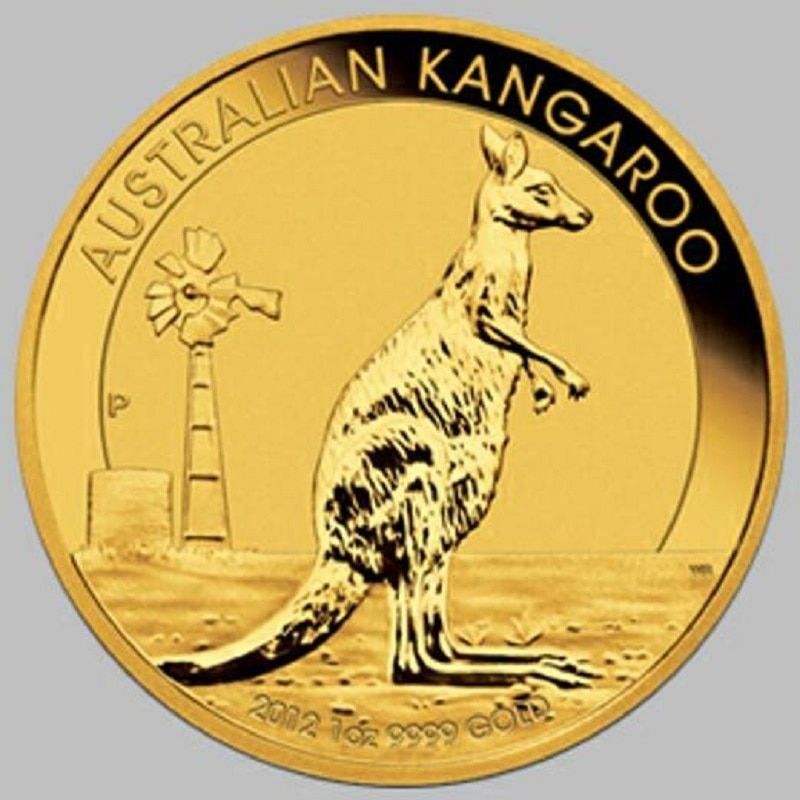 2012 Australia Kangaroo coins graded MS69 1 troy Oz. tungsten plated 1.5 gram fine gold coin holder