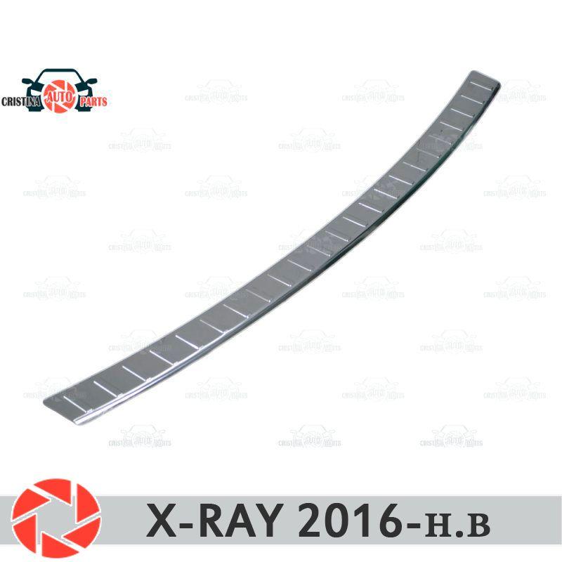 Für Lada X-Ray 2016-schutz schutz platte auf heckschürze sill auto styling dekoration scuff panel zubehör molding