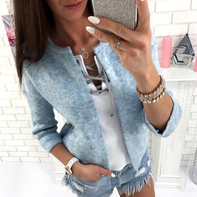 Pull Femme 2017 Fashion Women Spring Autumn Knitted Cardigans Casual Batwing Sleeve Sweater Jumper Winter Outerwear