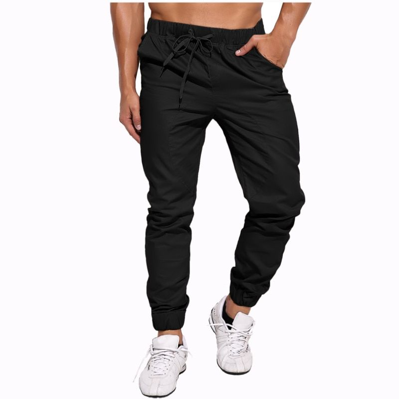 2017 Autumn Spring Brand Trousers Men's Slim Fit Harem Chinos Pants For Men High Quality Cotton Casual Pants Joggers Plus Size
