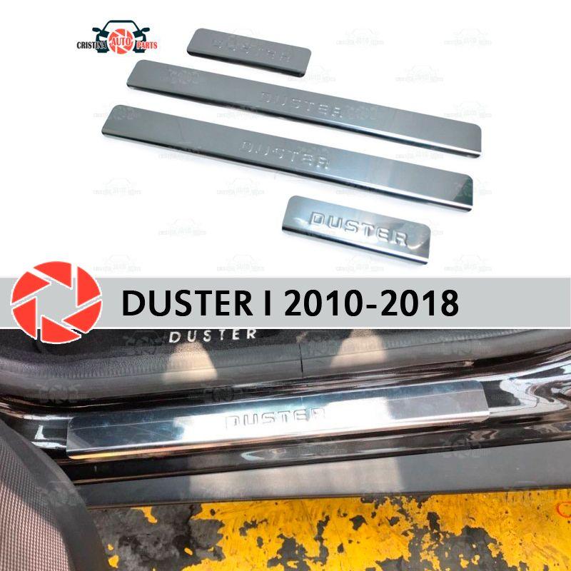 Einstiegsleisten für Renault Duster 2010-2018 schritt platte inneren trim zubehör schutz scuff auto styling dekoration stempel modell