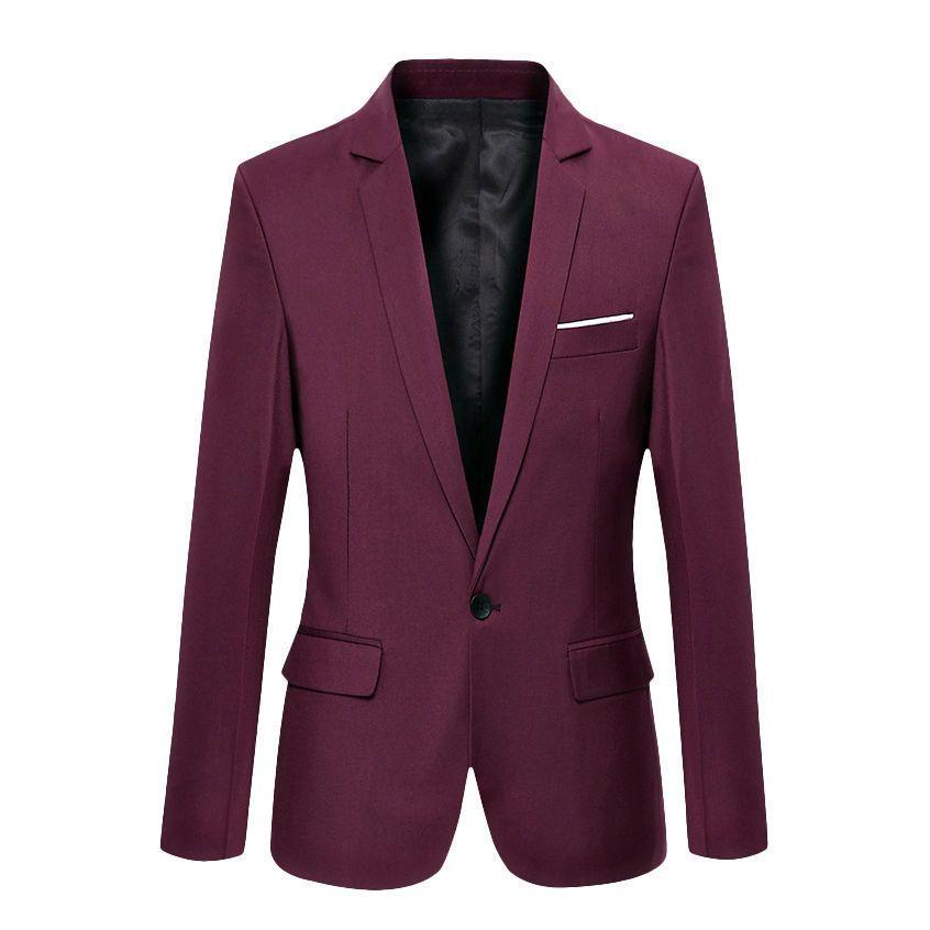Heißer Verkauf Neue Ankunft Mode Blazer Herren Freizeitjacke Solide farbe Baumwolle Männer Blazer Jacke Männer Klassische Herren Anzug Jacken mäntel