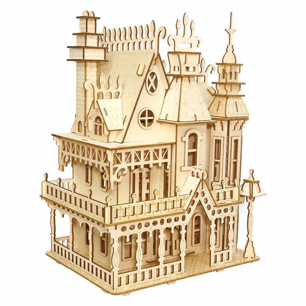 Фэнтези вилла ремесла модель детские игрушки 3D головоломки деревянные игрушки деревянные головоломки Развивающие игрушки для детей Рожде...